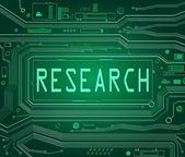 Koncepcja badań. — Zdjęcie stockowe