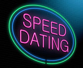 Speed dating concept. — Stock Photo