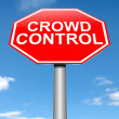 Crowd control concept. — Stock Photo