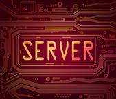 Concepto del servidor. — Foto de Stock