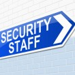 Security staff sign. — Stock Photo #39296719