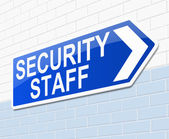 Security staff sign. — Stock Photo