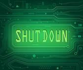 Shut down concept. — Stock Photo