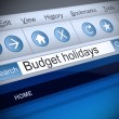 Budget holidays concept. — Stock Photo