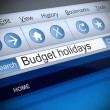 Budget holidays concept. — Stock Photo #39367467