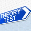 Stock Photo: Theory test concept.