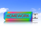 Homework concept. — Stock Photo