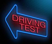 驾驶测试概念. — 图库照片