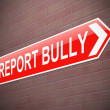 Stock Photo: Bullying sign.