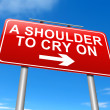 Stock Photo: Shoulder to cry on.