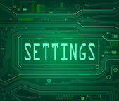 Settings concept. — Stock Photo