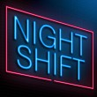 Stock Photo: Night shift concept.