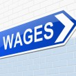 Wages concept. — Stock Photo #40088183