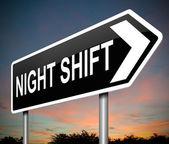 Night shift concept. — Stock Photo