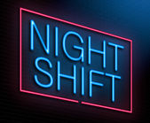 Night shift concept. — Stock Photo