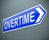 Overtime concept. — Stock Photo
