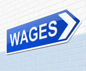 Wages concept. — Stock Photo