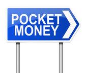 Pocket money concept. — Stock Photo