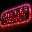 Stock Photo: Cheques cashed concept.