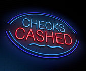 Checks cashed concept. — Stock Photo
