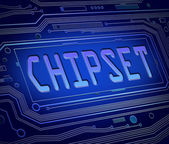 Chipset concept. — Stock Photo