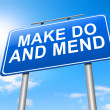 Make do and mend. — Stock Photo #40946925