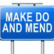 Stock Photo: Make do and mend.