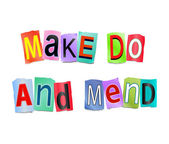 Make do and mend. — Stock Photo