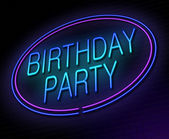 Birthday party concept. — Stockfoto
