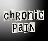Chronic pain concept. — Stock Photo