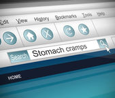 Stomach cramps concept. — Stock Photo