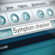 Stock Photo: Symptom checker concept.
