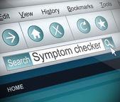 Symptom checker concept. — Stock Photo
