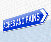 Aches and pains concept. — Stock Photo