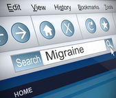 Migraine concept. — Stock Photo