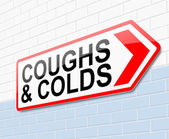 Coughs and colds concept. — Stock Photo