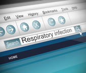 Respiratory infection concept. — Stock Photo