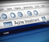 Acne concept. — Stock Photo