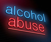 Alcohol abuse concept. — Stock Photo