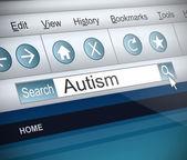 自閉症の概念. — ストック写真
