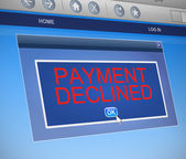 Payment declined concept. — Stock Photo