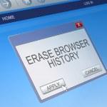 Delete browsing history concept. — Stock Photo #44681621