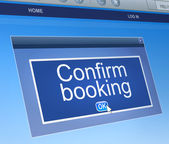 Confirm booking concept. — Stock Photo