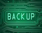 Back Up concept. — Stock Photo