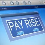 Постер, плакат: Pay rise concept