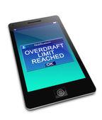 Overdraft concept. — Stock Photo