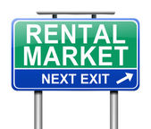 Rental market concept. — Stock Photo