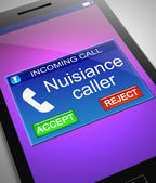 Nuisance caller concept. — Stock Photo
