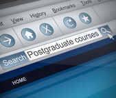 Postgraduate concept. — Stock Photo