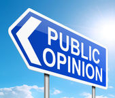 Publieke opinie concept. — Stockfoto